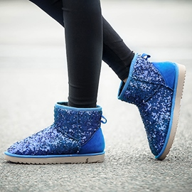 Ericdress Shining Sequins Snow Boots