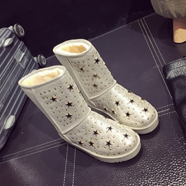 Ericdress Star&rivets Decoration Snow Boots