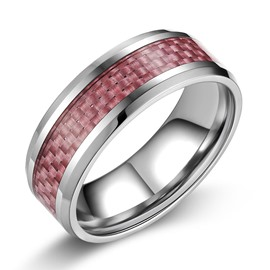 Colored Woven Pattern Men's Ring