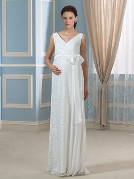 Ericdress Comfortable Lace Maternity Wedding Dress