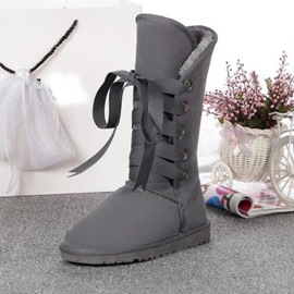 Ericdress Fashion Lace-up Snow Boots