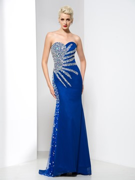 Ericdress Sweetheart Beading Sequins Court Train Evening Dress