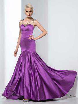 Ericdress Mermaid Beading Court Train Evening Dress