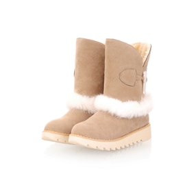 Ericdress Sweet Furry Snow Boots