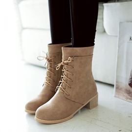 Ericdress Graceful Chunky Heel Ankle Boots
