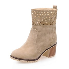 Ericdress Pretty Hollow out Ankle Boots