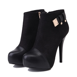 Ericdress Patchwork High Heel Boots