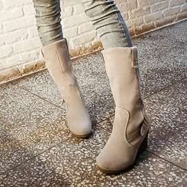 Ericdress Stylish Wedge Ankle Boots with Buckles