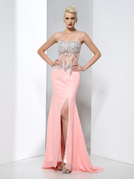 Ericdress Sweetheart Beading Split-Front Prom Dress