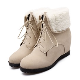 Ericdress Lovely Lace-up Wedge Ankle Boots