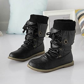 Ericdress Stylish Lace-up Flat Boots