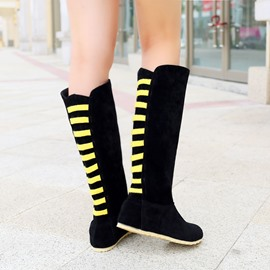 Ericdress Bright Strip Decorated Flat Boots