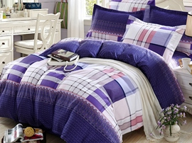 Ericdress Classic Space Plaid 4-Piece Bedding Sets