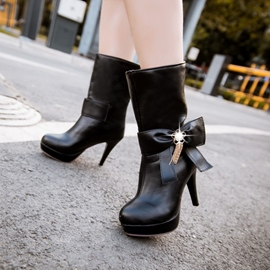 Ericdress Graceful Mid Calf High Heel Boots