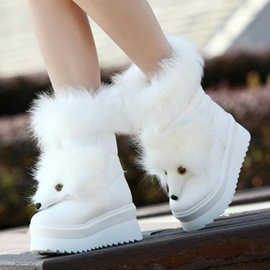 Ericdress Warm Cute Fox Ankle Boots