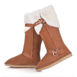 Ericdress Top Quality Suede Mid Calf Snow Boots