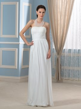 Ericdress Beautiful Beading Halter A Line Wedding Dress