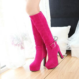 Ericdress Elegant Knee High Boots with Buckles