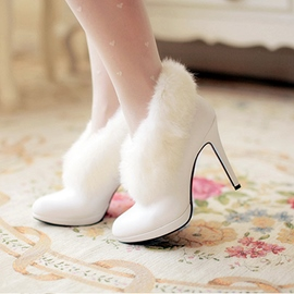 Ericdress Dreaming Furry High Heel Boots