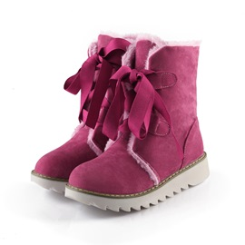 Ericdress Floss Lace-Up Front Snow Boots