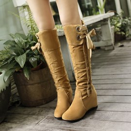 Ericdress Suede Knee High Boots