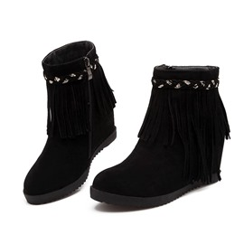 Ericdress Korean Wedge Ankle Boots with Tassels