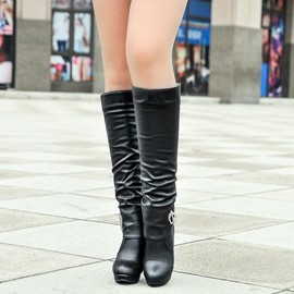 Ericdress Metal Decoration Knee High Boots