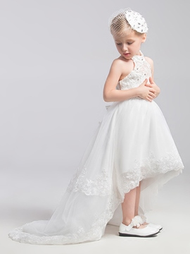 Ericdress Beautiful Halter Asymmetry Flower Girl Dress