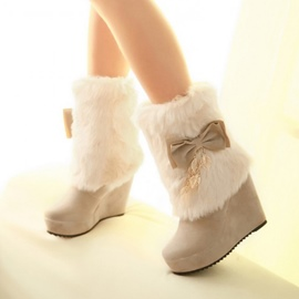 Ericdress Mid calf Wedge Snow Boots