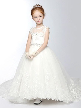 Ericdress Beautiful Tulle Princess Flower Girl Dress