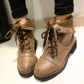 Ericdress Splendid Lace up Ankle Boots