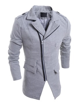 Ericdress Plain Zip Slim Men's Blazer