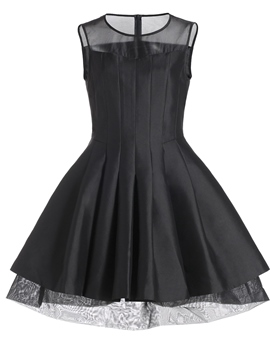 Ericdress Sheer Neck Pleats Cocktail Dress