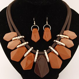 Ericdress Candy Color Geometric Jewelry Set
