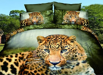 Ericdress Leopard In Forest Print Bedding Sets