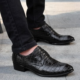 Ericdress Pointed Toe Lace-Up Front Square Heel Men's Oxfords