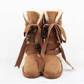 Ericdress Lovely Bowtie Lace up Snow Boots