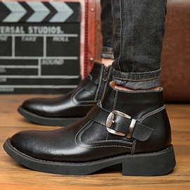 Ericdress Solid Color Slip on Ankle Boots