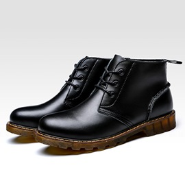 Ericdress Black Lace up Martin Boots