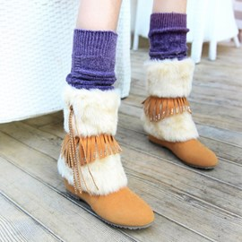 Ericdress Charming Furry Fringe Boots