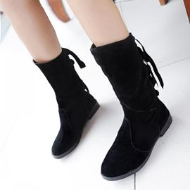 Ericdress Pretty Back Lace Up Flat Boots