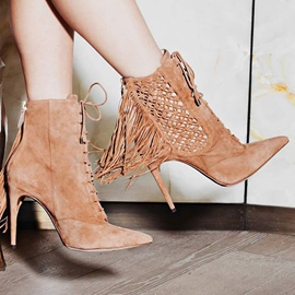 Ericdress Fashion Hollow Out Point Toe High Heel Boots