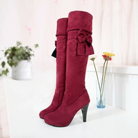 Ericdress Knee High Boots with Bowknot