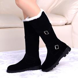 Ericdress Fashion Buckles Decorated Flat Boots