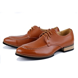 Ericdress Lace up Square Heel Low-Cut Upper Men's Oxfords