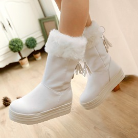 Ericdress Delicate Tassels Flat Boots