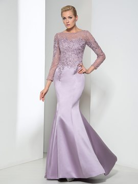 Ericdress Long Sleeve Lace Sequins Evening Dress
