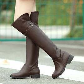 Ericdress Cool Knee High Boots with Buckles