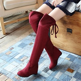Ericdress Princess Knee High Boots with Tassels