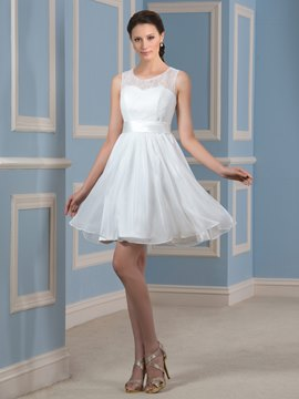 Ericdress Casual Jewel Lace Short Wedding Dress